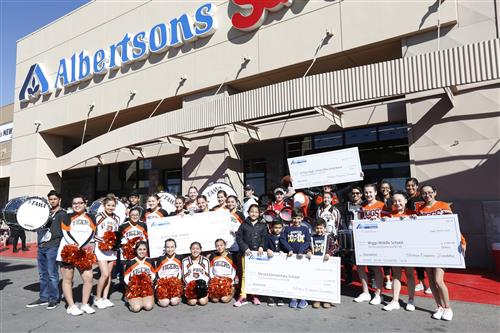 Video+Story: Albertsons Celebrates Store Renovations with Checks for EPISD Schools