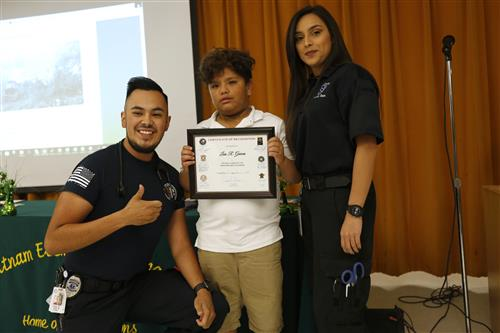 Putnam Hero: Second Grader Honored for Actions During Fiery Crash