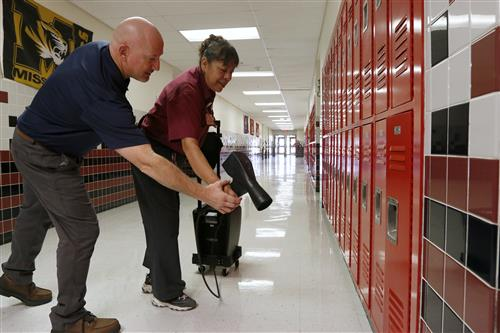 Video+Story: New Technology Helps EPISD Custodians Blast Illness-Causing Germs