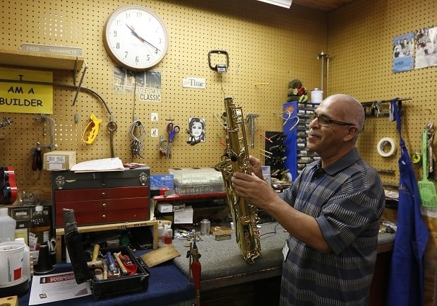 Video + Story: EPISD shop Gives Musical Instruments TLC