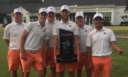C-USA Champions! UTEP Downs Southern Miss, Charlotte to Win Golf Crown