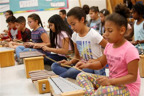 Bradley Elementary Students Learn Music through Play, Movement via Orff Approach