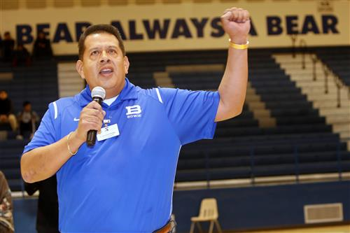 Video+Story: Bowie Students Officially Welcome Principal Ordaz