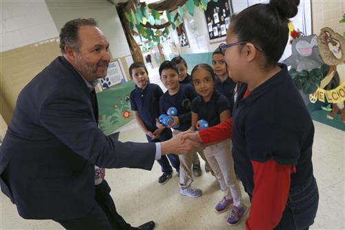 Superintendent Donates Penny Swap Stipend to Lee Elementary