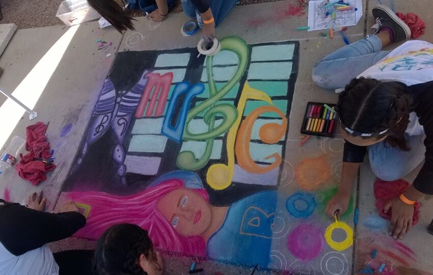 Riverside High School Hosts 9th Annual Chalk Art Competition Friday