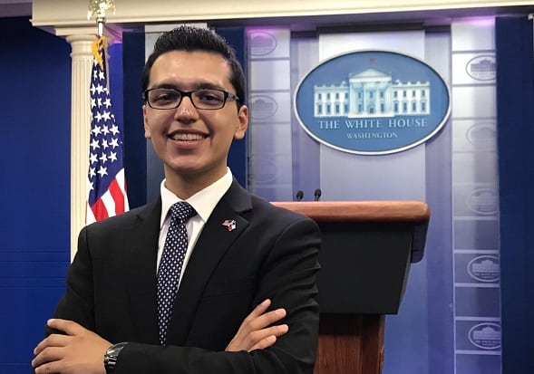 Former Fabens Wildcat Interns at White House