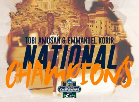 UTEP Home to Two NCAA Champions: Amusan Joins Korir