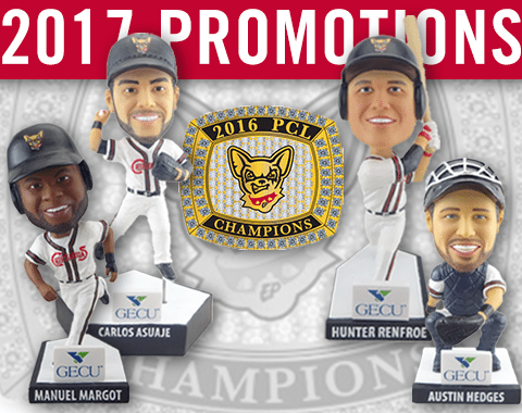 Chihuahuas Reveal 2017 Promotions: Replica Rings, Bobbleheads and More