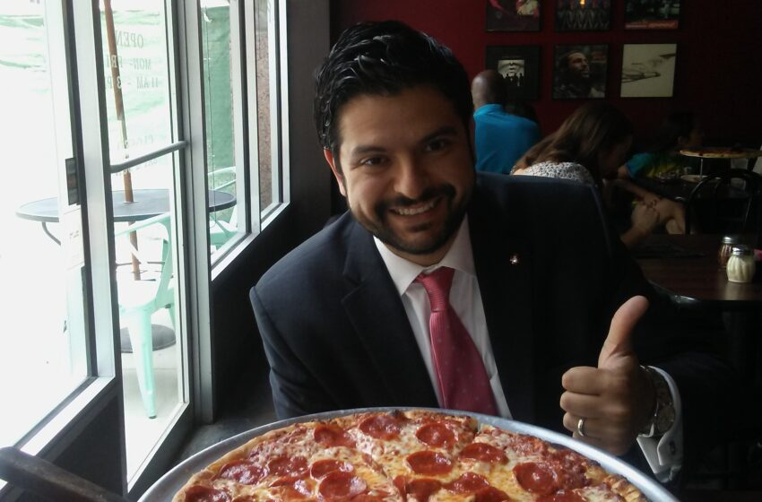Pizza with a Politician: Mayoral Candidate David Saucedo