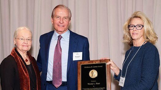 Lamar Medal for Higher Education Presented to Woody Hunt