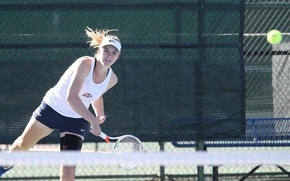 Yvette Van Oijen Wins On Court No. 5, Miner Tennis Falls To FAU