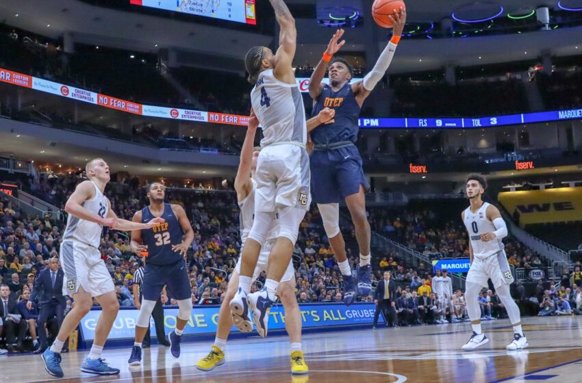 Lathon, Odigie-Led Miners Fall at Marquette 76-69