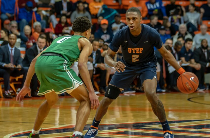 Gallery+Story: Late Three Pointers Lift North Texas Over UTEP 58-51