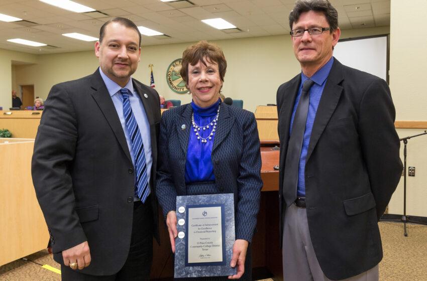 EPCC Financial Operations Garners Award