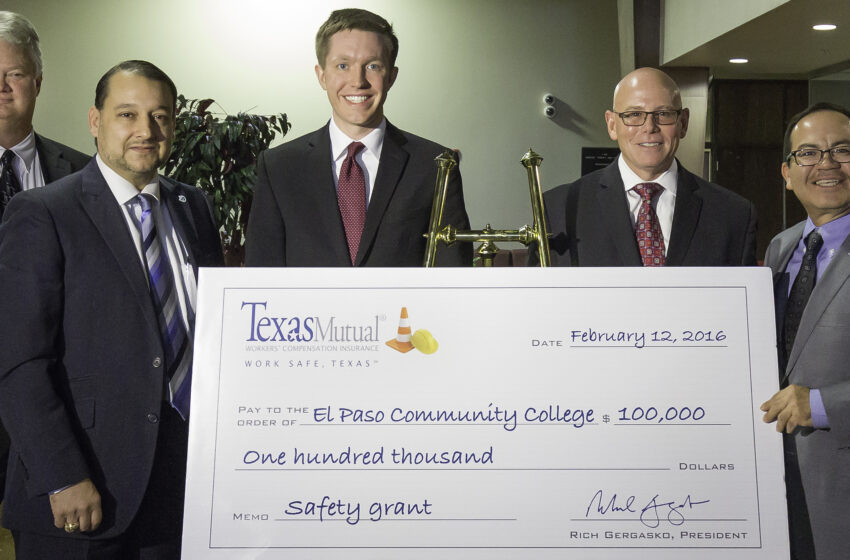 Texas Mutual Insurance Company Awards $100K to Fund Risk Management Program at El Paso Community College