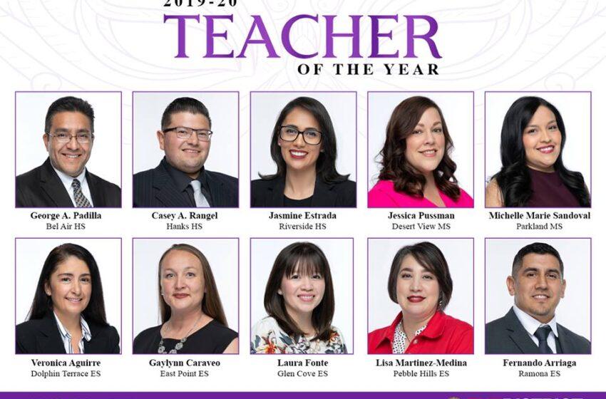 Ysleta ISD Announces Top 10 Teachers of the Year