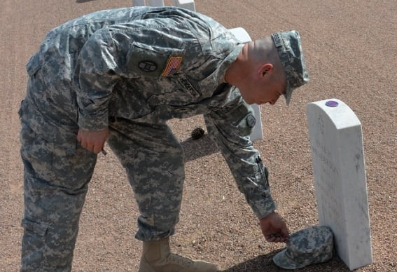 Gallery+Story: Promotion at Fort Bliss Gravesite Honors Grandfather