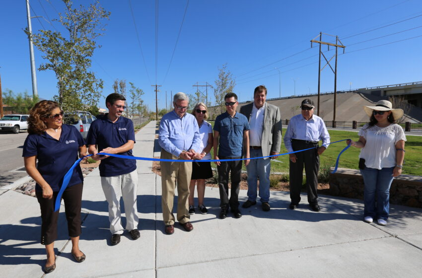 EPW Cuts Ribbon on Dual Purpose Park and Pond in Central El Paso