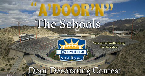 """Elementary Students Eligible to Win Sun Bowl Tickets by Entering """"A'DOOR'N"""" Contest"""