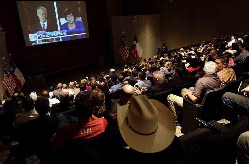 Gov. Abbott, Challenger Lupe Valdez Spar Over Arming Teachers, Harvey Recovery in Debate