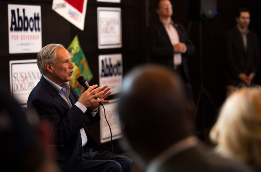 Texas Gov. Greg Abbott Vows to Challenge Lupe Valdez on Border Issues