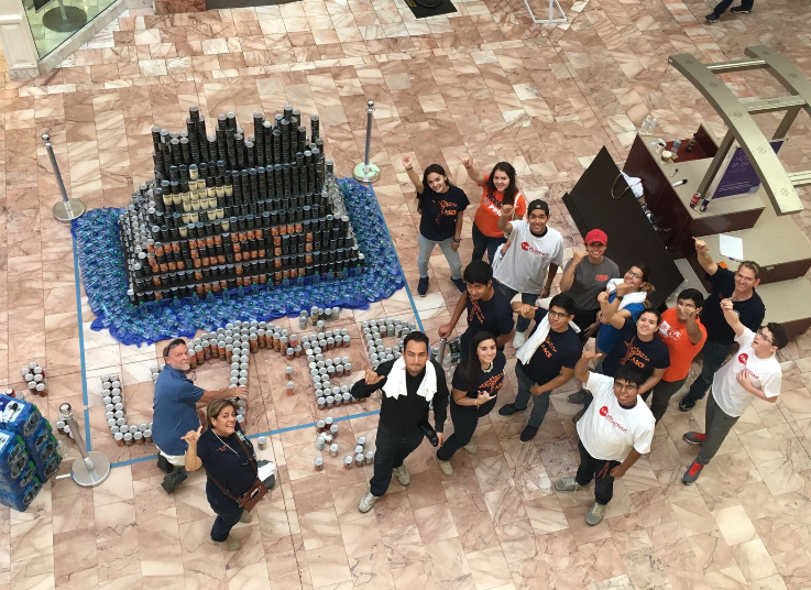 UTEP Team Wins People's Choice Award in 'Canstruction' Competition