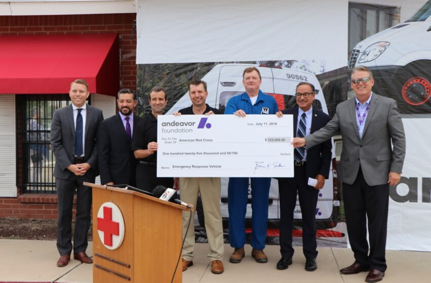 American Red CrossReceives $125k Grant fromAndeavorfor New Emergency Response Vehicle