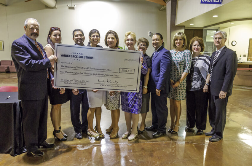 Hospitals of Providence Partner with EPCC for $497,608 Job-Training Grant