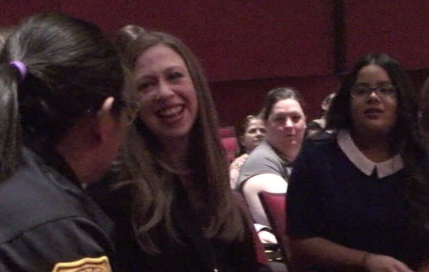 Chelsea Clinton applauds El Dorado High for Desert Trash-to-Art Project