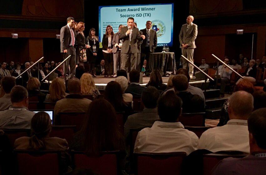 Socorro ISD wins CoSN's 2017 Team Achievement Award