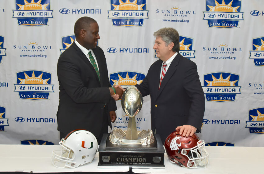 Head Coaches talk about 82nd Annual Hyundai Sun Bowl