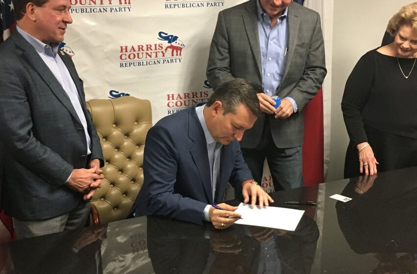 Making Re-Election Bid Official, Cruz Talks Taxes and Brushes Off Competition