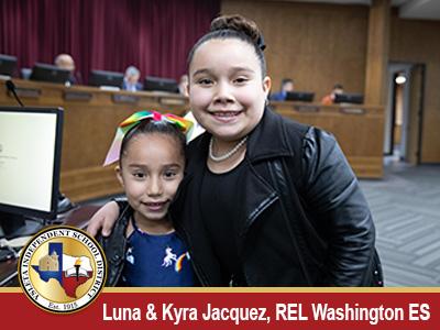Washington Elementary Sisters Honored by Ysleta ISD Board