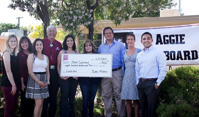 Aggie Cupboard Food Pantry Celebrates 'Eat for Pete' Donation at New Location