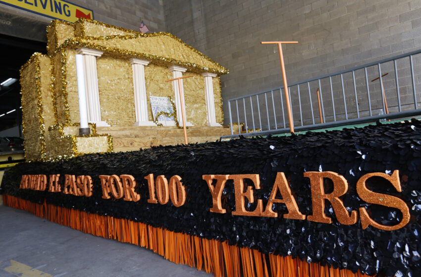 Jefferson, El Paso High Work Together to Create Centennial Parade Float