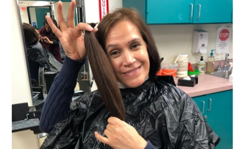 El Paso ISD Lunch Ladies Donate Hair to Charity