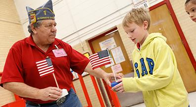 Flags for Kids: Vets Teach Students Importance of Old Glory