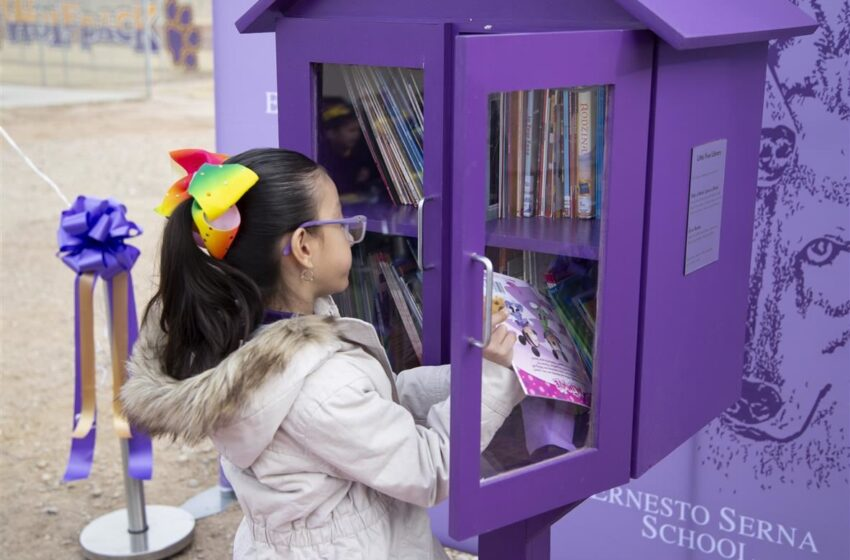 Donation puts Little Free Library at Ernesto Serna School