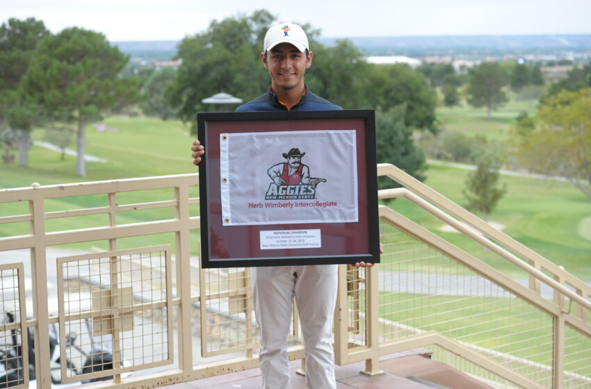 UTEP Golf's Aaron Terrazas Earns Co-Champion Honors at Herb Wimberly Intercollegiate