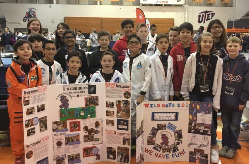 St. Clement's Parish School Places in West Texas Robotics Championship