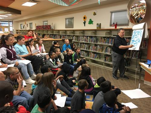 Story+Pics: Book Illustrator Shows EPISD Students Power of Determination