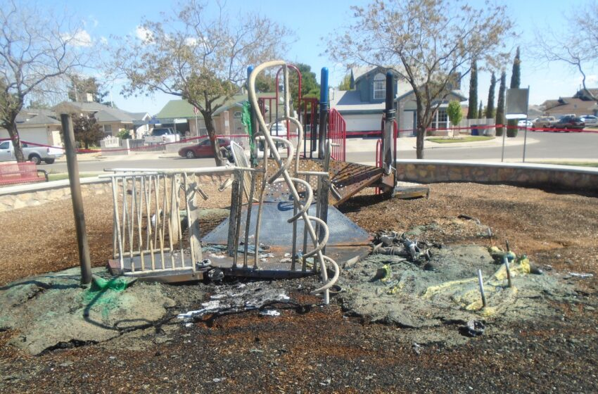 City Park Playground Torched by Vandals; EPFD Estimates Damage at $120k