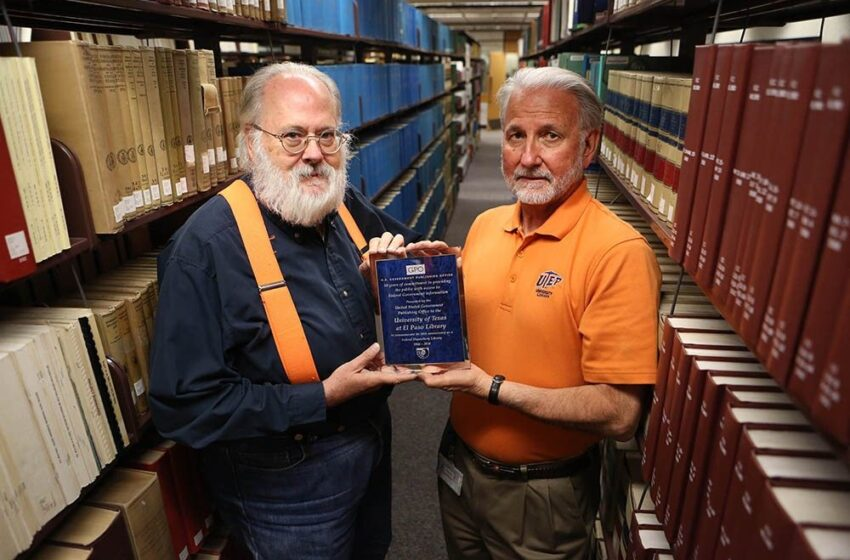 UTEP Library Honored as a 50-Year Member of the Federal Depository Library Program