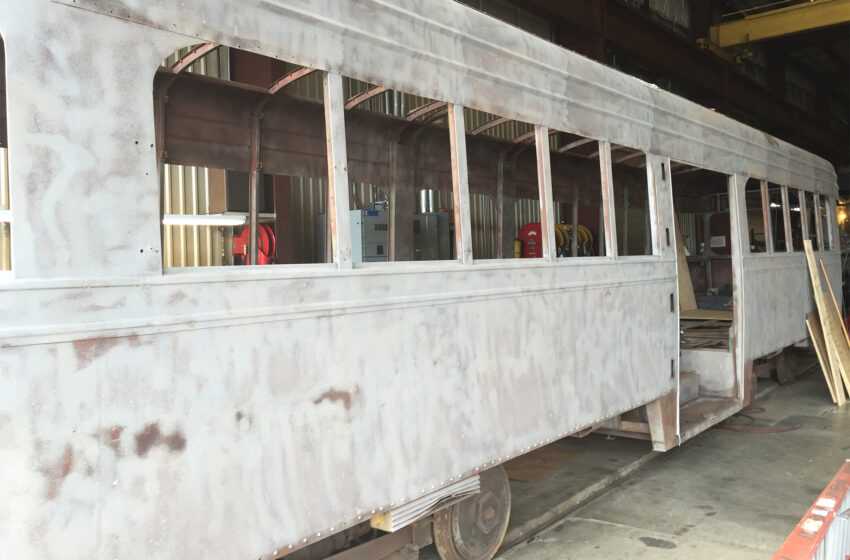 Streetcar Project Work Continues as Restoration of PCC Cars Revealed