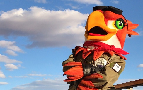 EPIA Unveils New Airport Mascot: Red T. Hawk