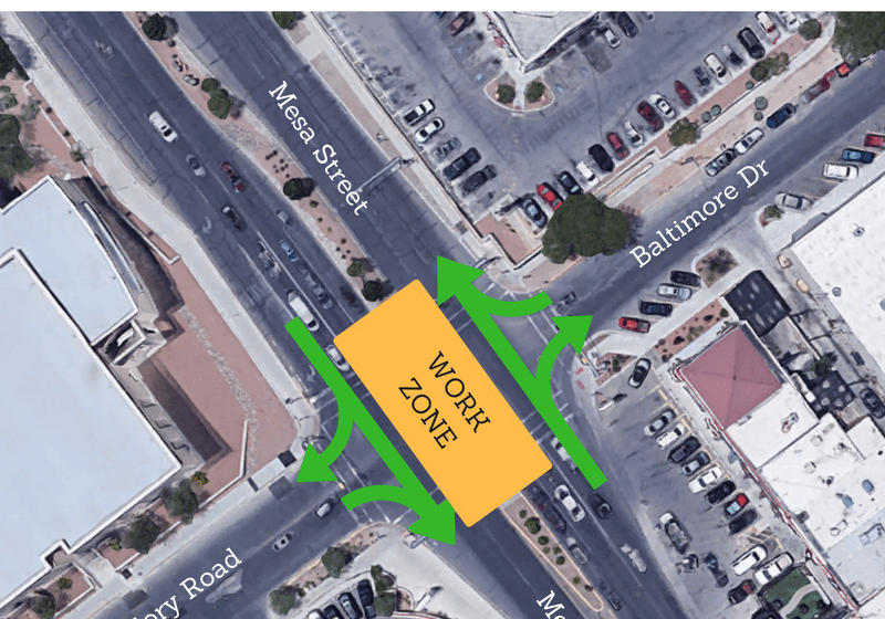 Two-Day Lane Restrictions Set For Mesa-Glory Road-Baltimore Intersection