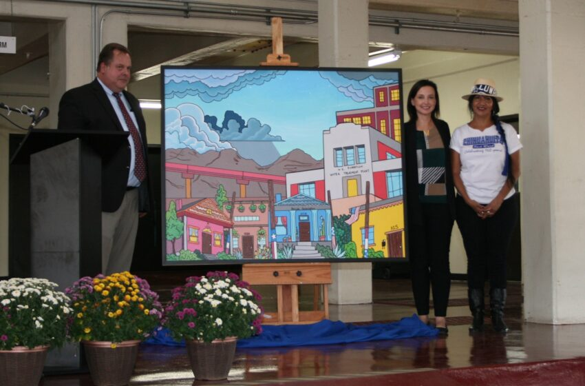 Video+Story: Mural of Chihuahuita, Water Plant Unveiled to Celebrate 75th Anniversary
