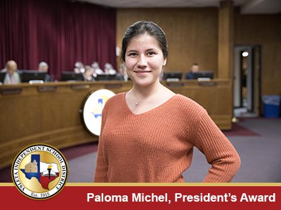 Ysleta ISD Honors Student for Successes in School, Disaster Relief Work