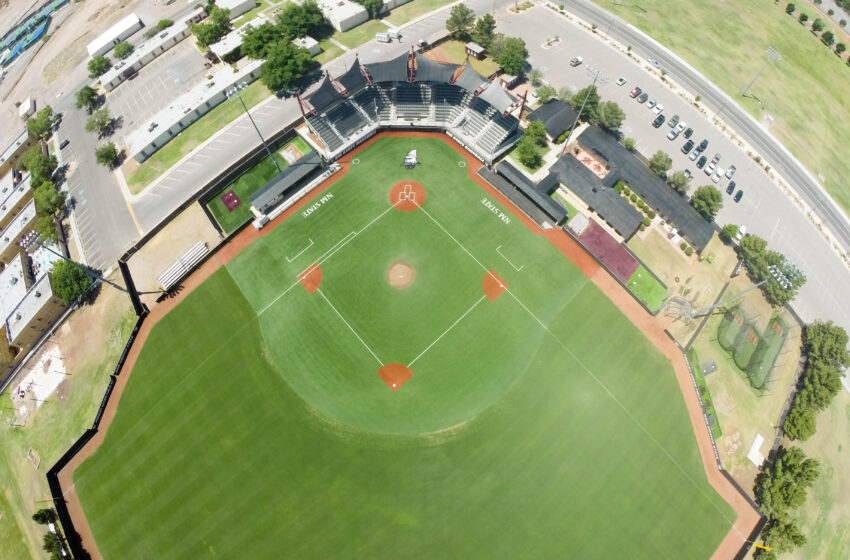 NMSU Physical Science Lab's Drone Snaps Unique Pictures of Renovated Baseball Field