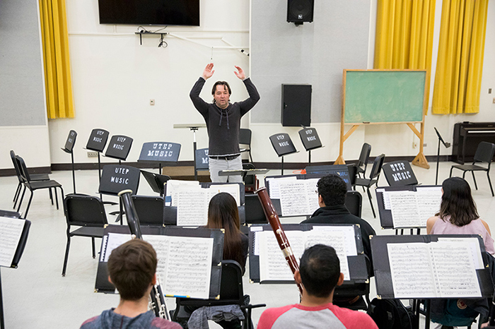 EPSO Director Steps in to Conduct UTEP Symphony